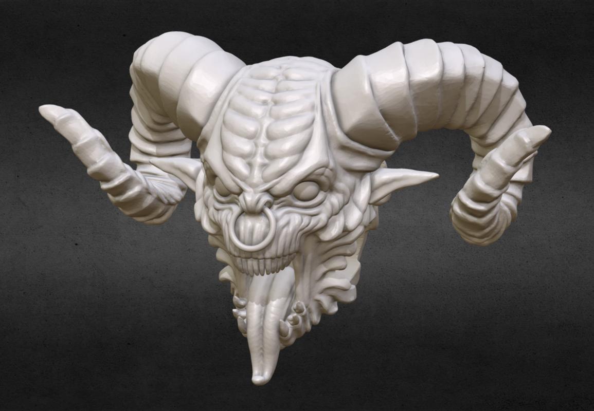 demon head bead 3D model
