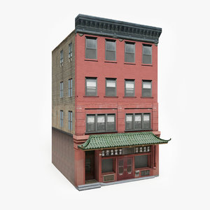 3D ready chinatown building games model