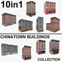 10 chinatown buildings 3D