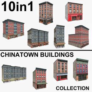 10 chinatown buildings 3D