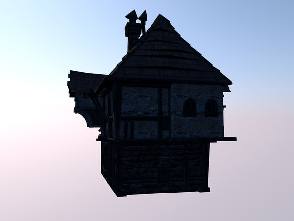 3D fantasy house model