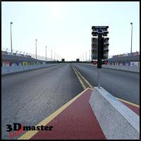 drag racing track 3D model