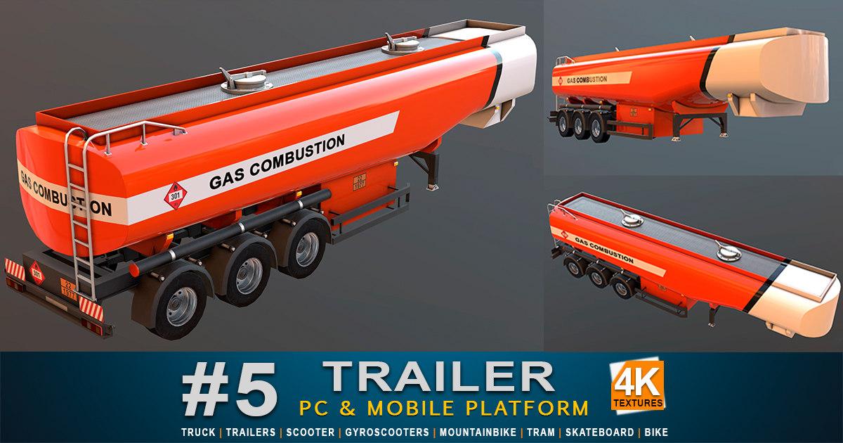 3D gas trailer model