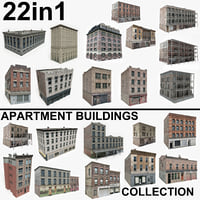 22 Apartment Buildings Collection