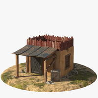 3D house canopy model