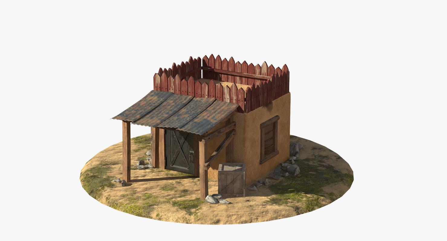 3D house canopy model