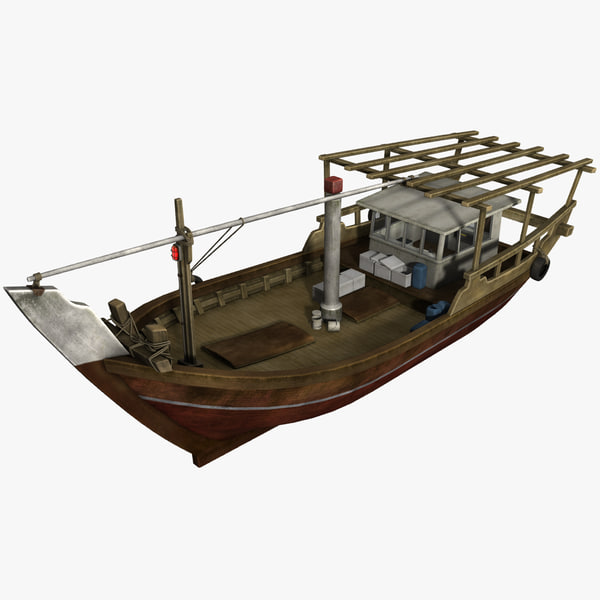 3D fishing dhow