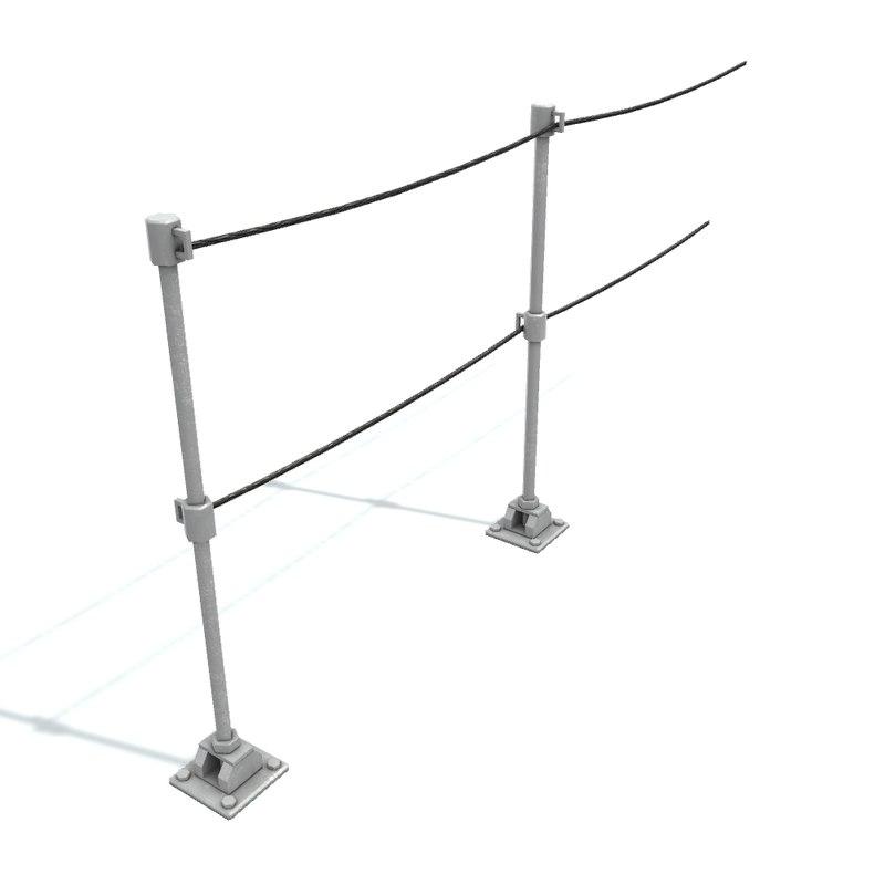 rail stanchion b 3D model