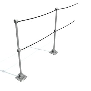 3D rail stanchion c