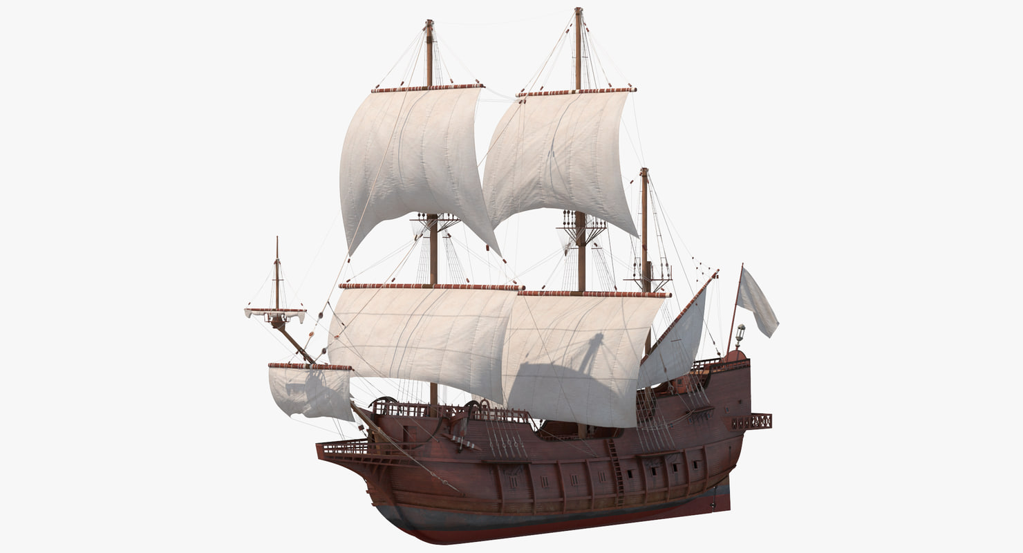 spanish galleon ship 3D model