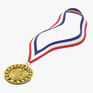 3D olympic style medal gold