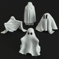 3D ghosts figures