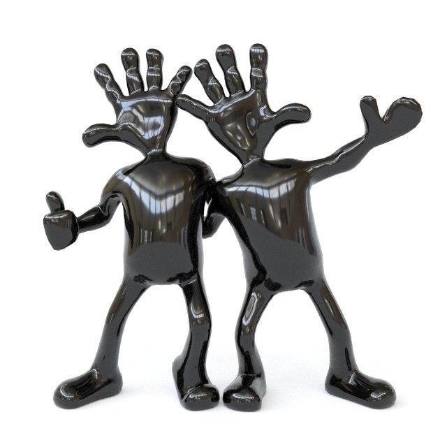 3D model handsfrends hands frends