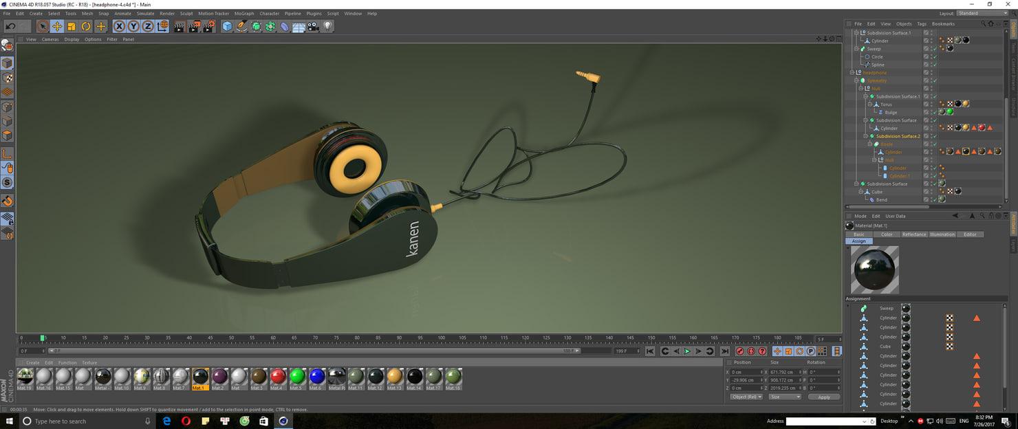 3D headphone kanen