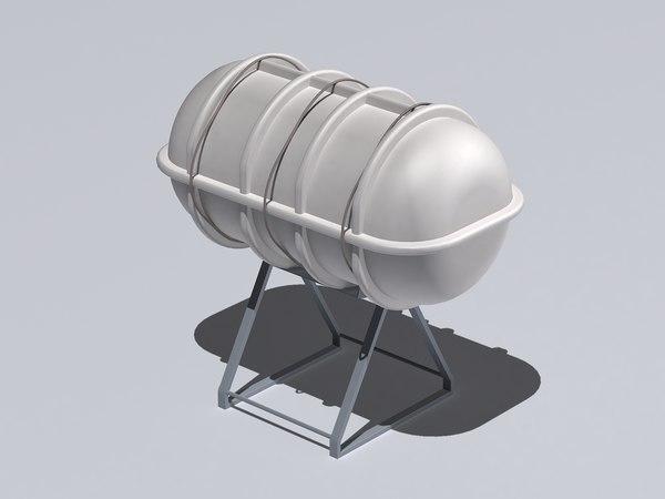 liferaft container 3D model