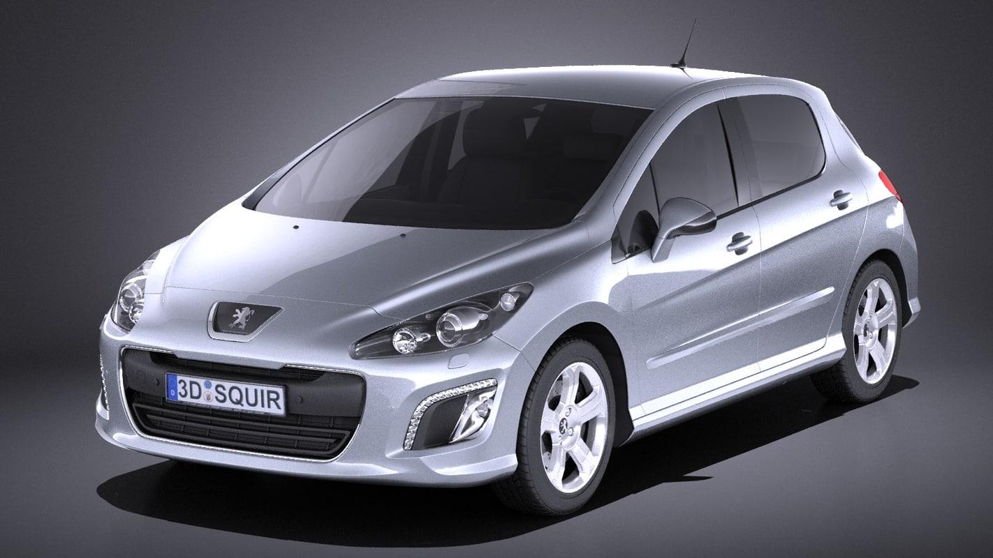 peugeot 308 2013 3D model