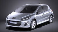 Peugeot 308 hatchback 5door 2013 VRAY