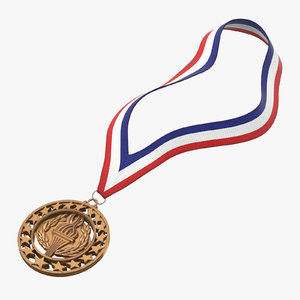 3D olympic style medal bronze