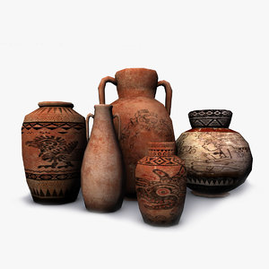 3D ancient vases