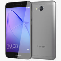3D realistic honor 6a gray model