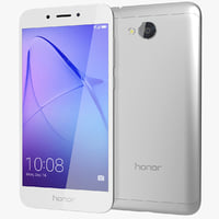3D model realistic honor 6a silver