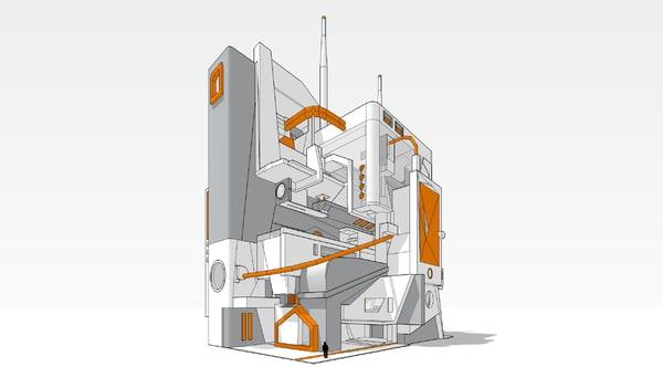 3D polys skp model