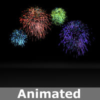 fireworks animation model