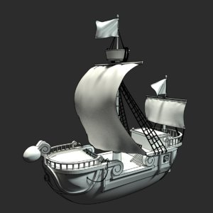 straw hat pirates ship 3D