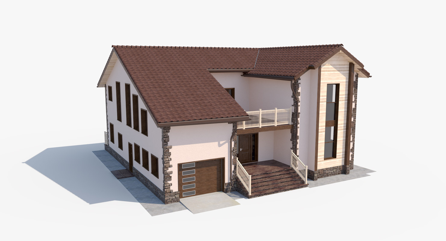 house country 3D model