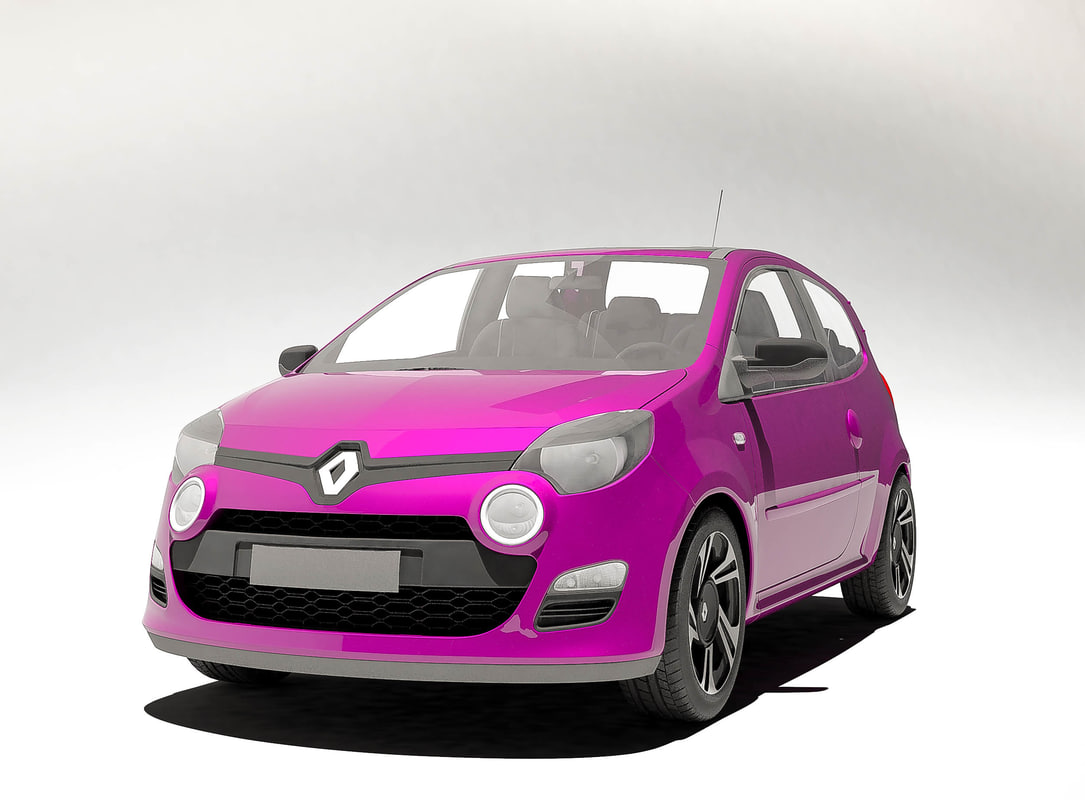 3D renault twingo 2012 model