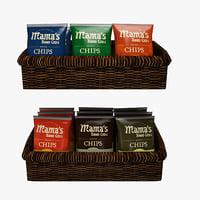 basket chips 3D model