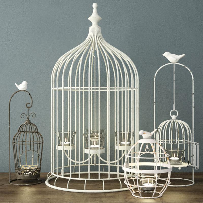 3D birdcage candleholders model