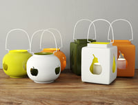 ceramic lanterns apple pear 3D
