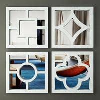 3D distressed wall mirror set