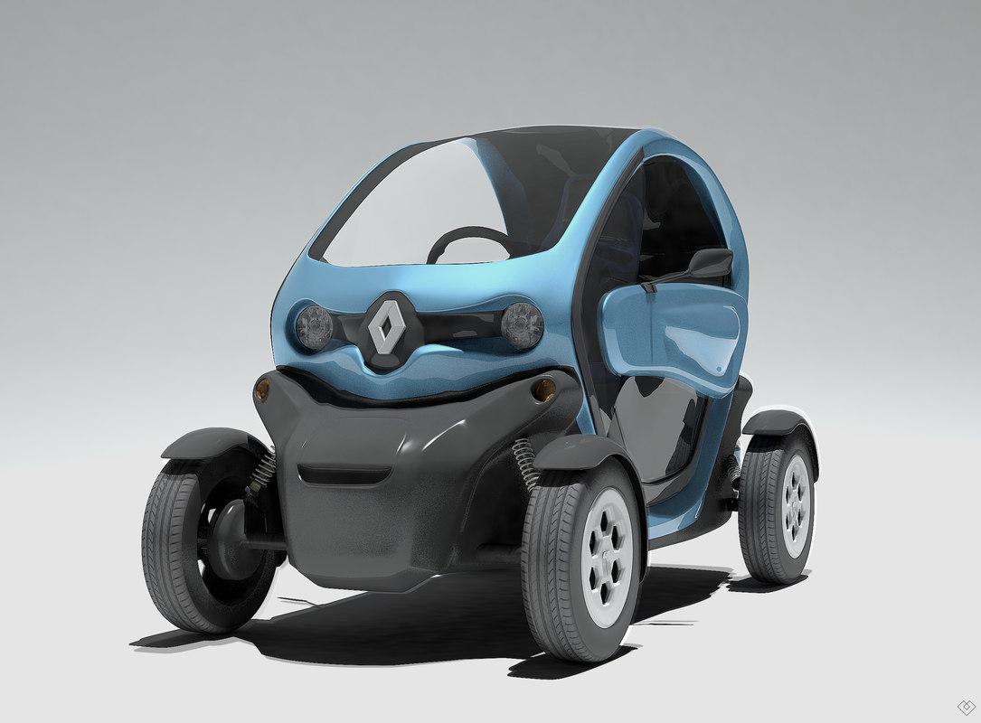 twizy electric car renault 3D