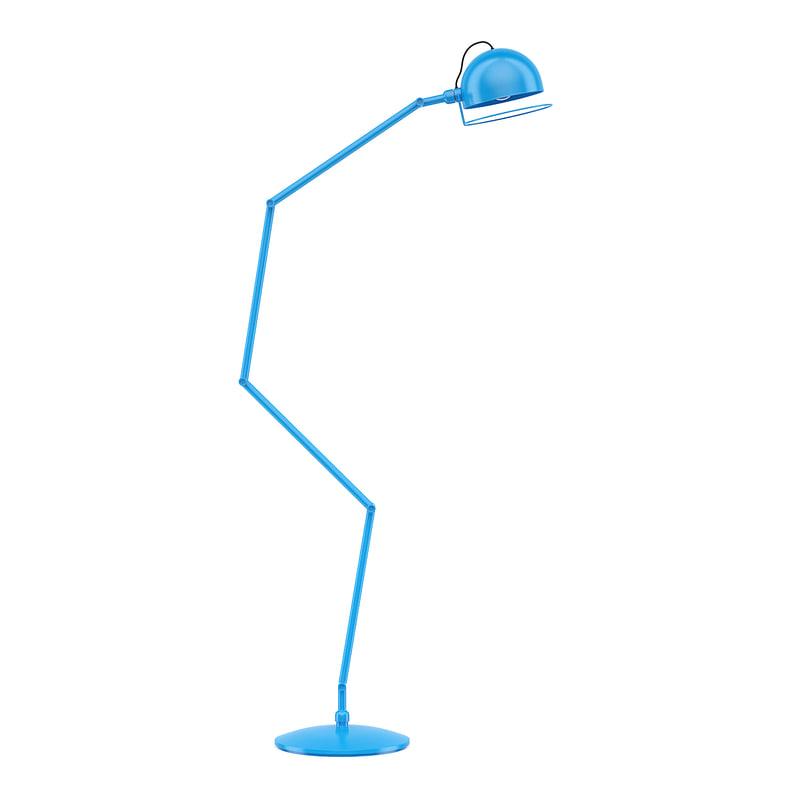 3D blue floor lamp model