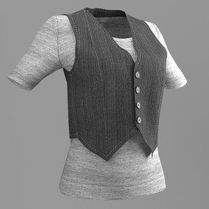 woman shirt 3D model