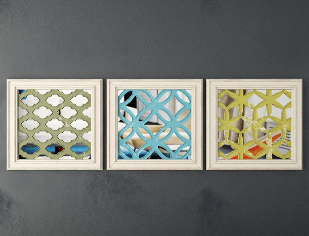 3D lattice square wood panel