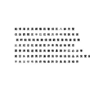 3D chinese ms gothic font