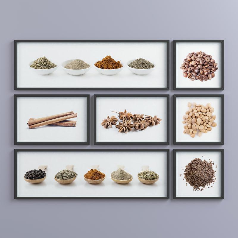 picture frames set -1 3D model