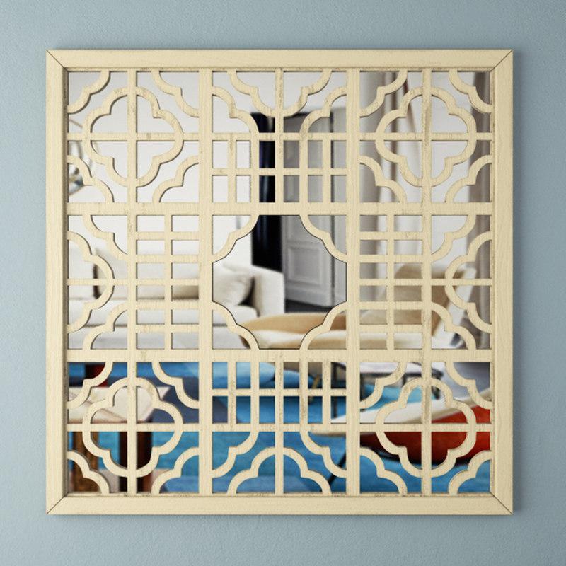 mirror screen wall art 3D