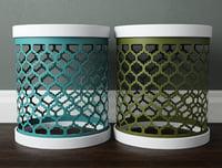 perforated metal drum tables 3D model