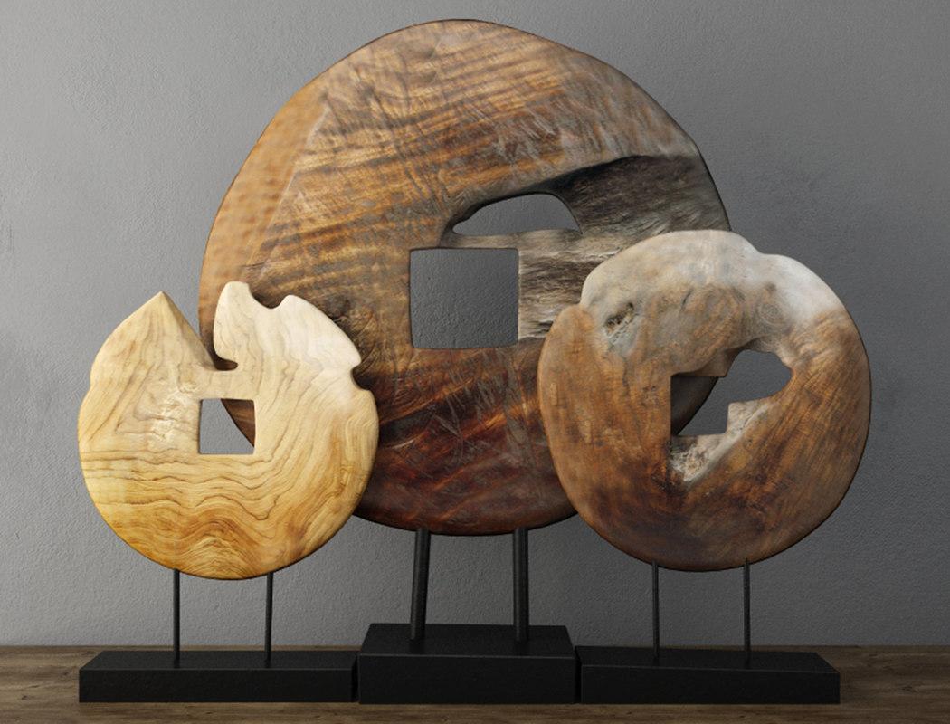 3D decoration teak wood