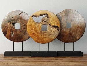 decoration teak wood model
