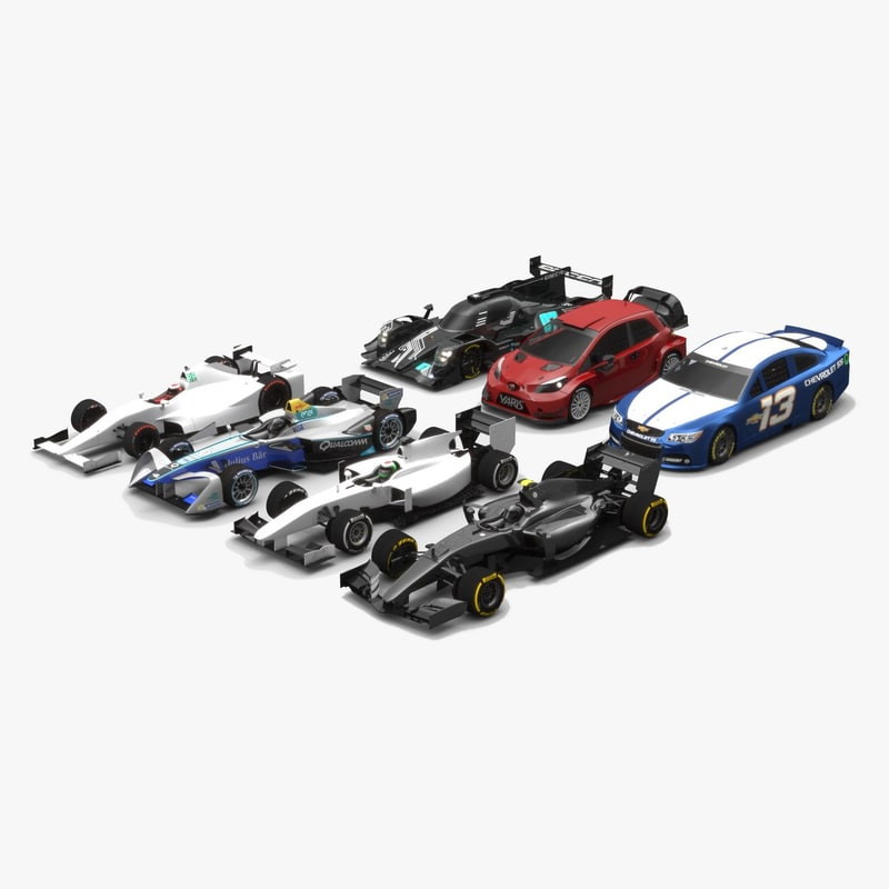 pack generic cars race 3D model