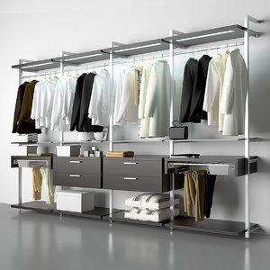 3D wardrobe model
