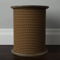 3D wood rope table