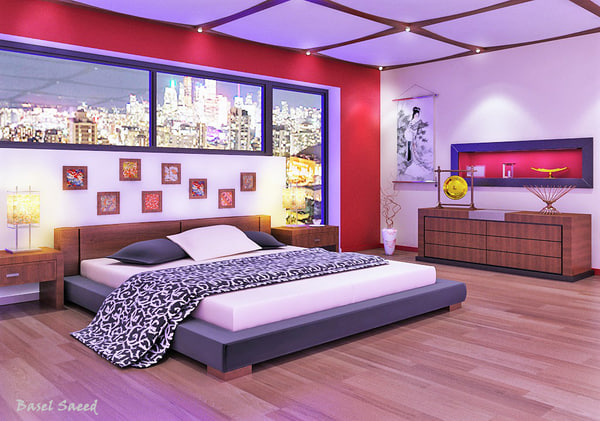 bedroom furniture 3D model