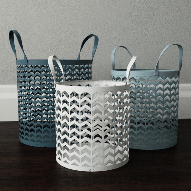 3D zigzag basket set