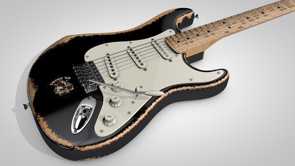 old fender stratocaster 3D model